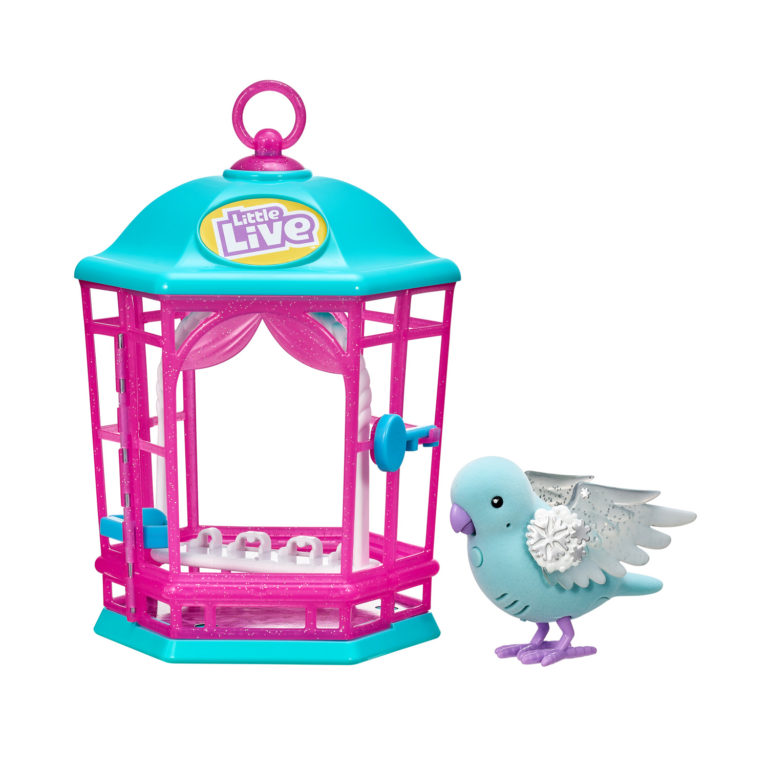 Little Live Bird And Cage S9, snow gleam – Little Live