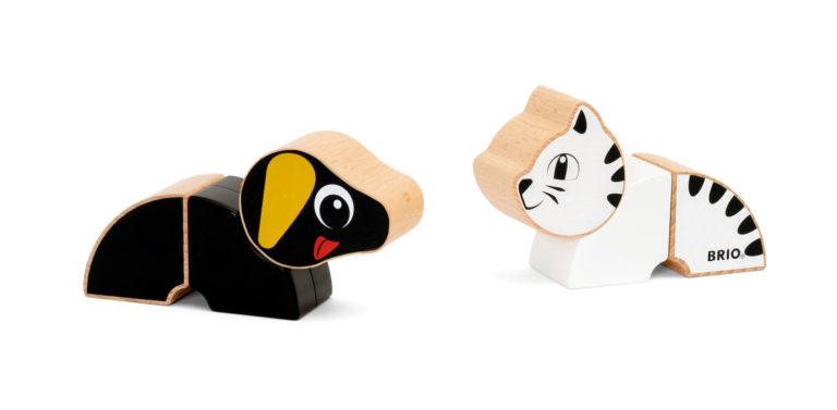 Magneettinen mäyräkoira ja kissa – BRIO