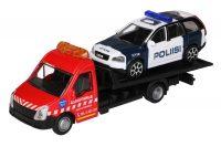 Lavakuljetus- ja poliisiauto -setti – Bburago