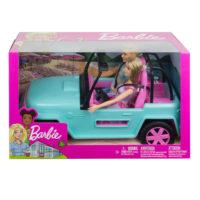 Maastoauto ja nuket – Barbie