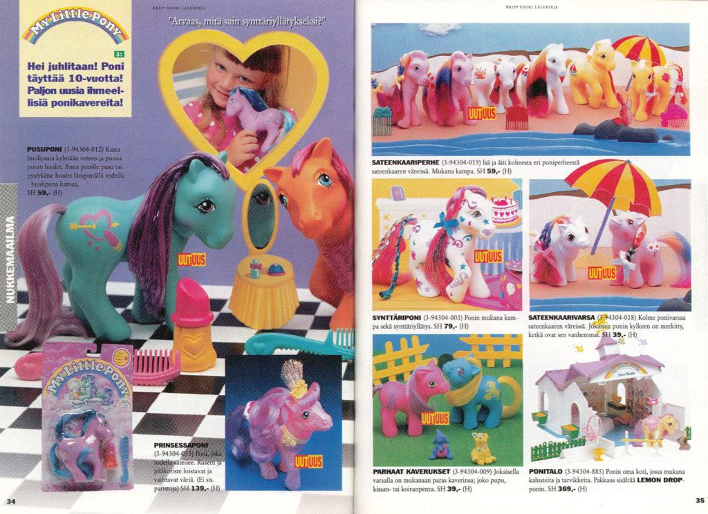 Lelukirjan aukeama 1993: My Little Pony