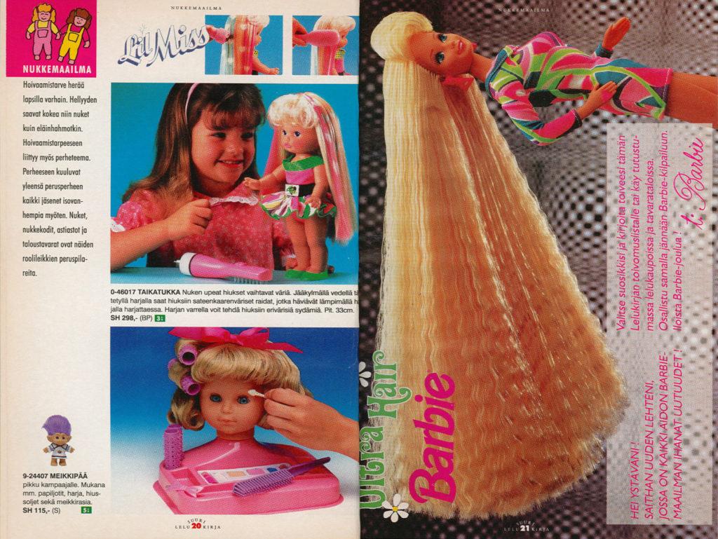 Lelukirjan aukeama 1992: Barbie
