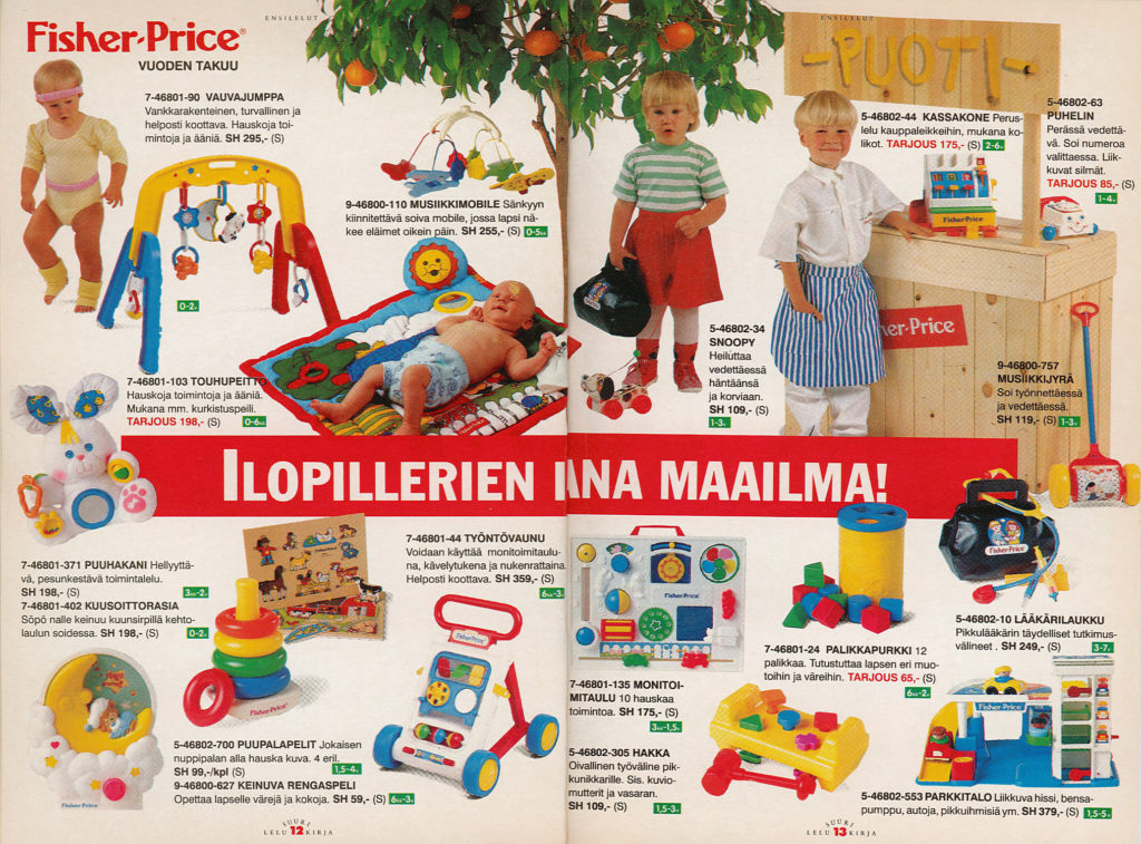 Lelukirjan aukeama 1992: Fisher-Price