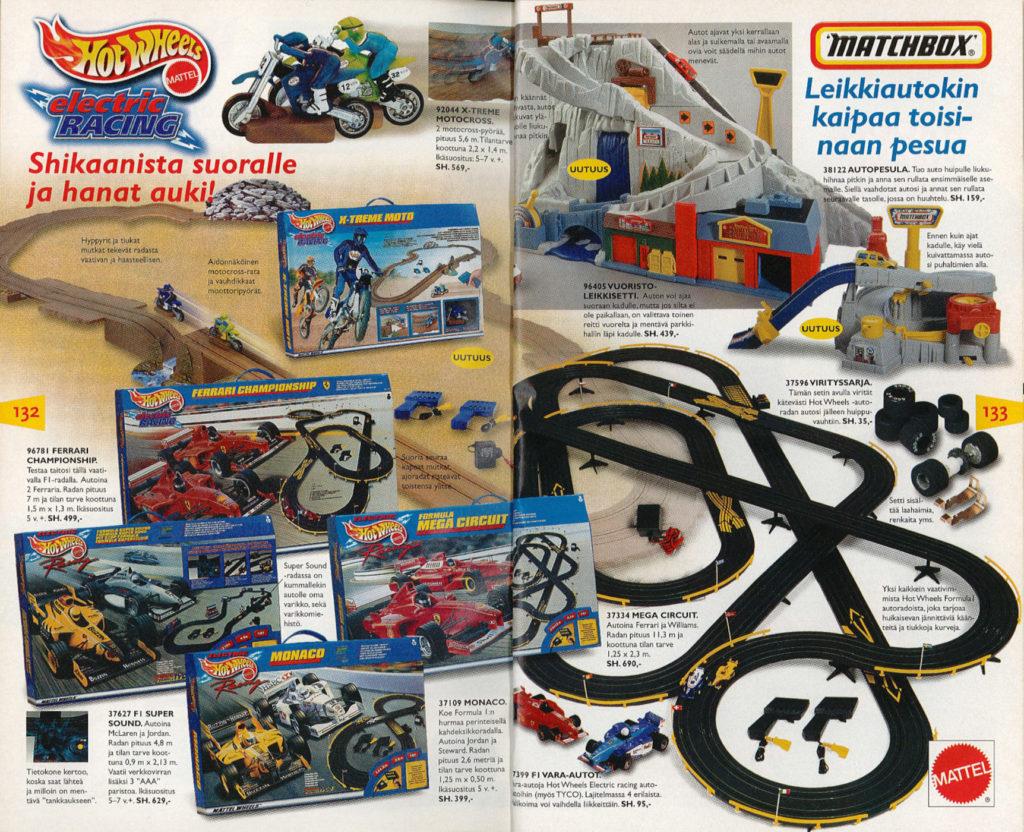Lelukirjan aukeama 2000: Hot Wheels