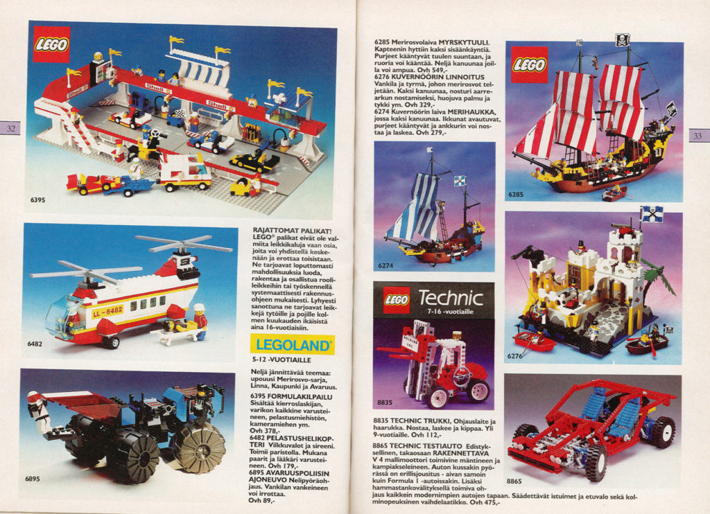 Lelukirjan aukeama 1989: LEGO