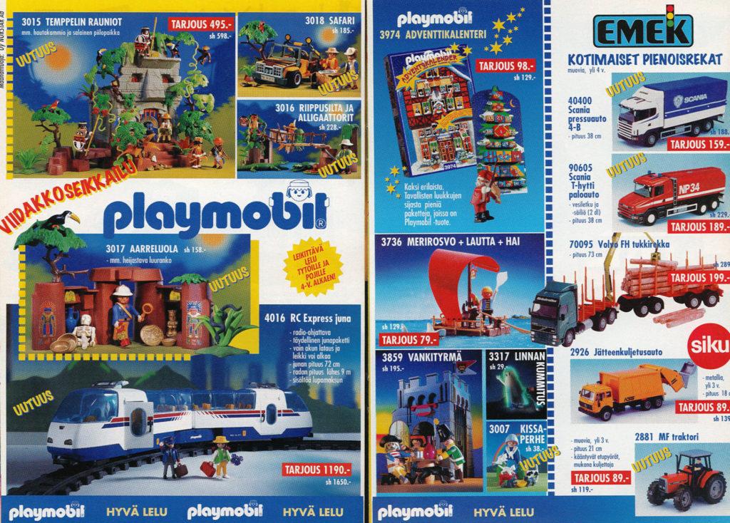 Lelukirjan aukeama 1998: Playmobil
