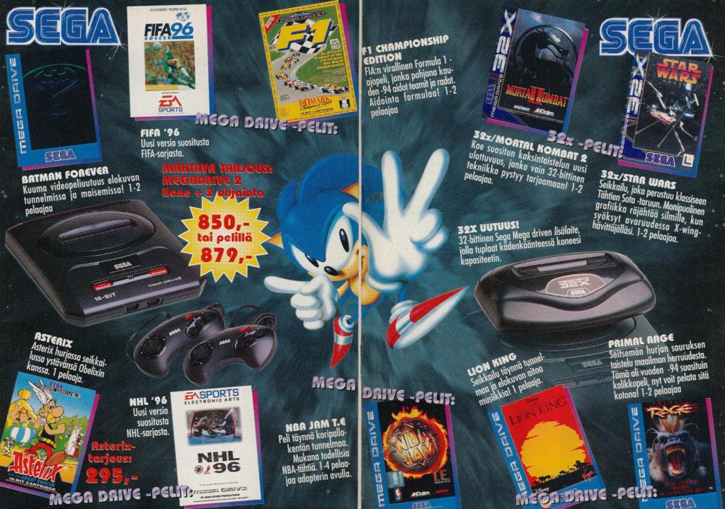 Lelukirjan aukeama 1995: Sega