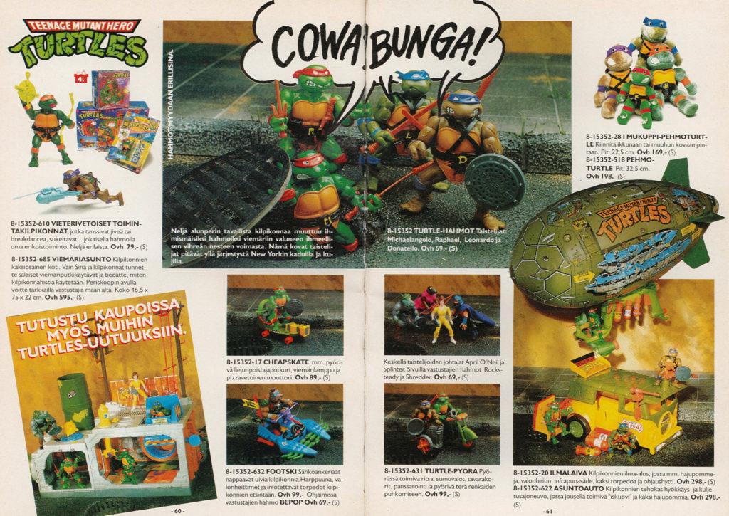 Lelukirjan aukeama 1991: Turtles