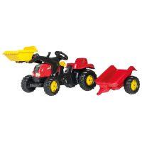 RollyKid-X traktori, etukuormaaja ja perävaunu – Rolly Toys